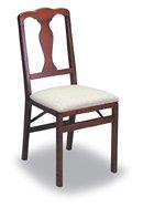 Baron Barclay Folding Wood Chairs Cherry Finish – Classic Set of 2