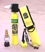 New 3.0CF Nitrox Spare Air Package for Scuba Divers With Dial Gauge Upgrade, Fill Adapter, Holster, & Leash