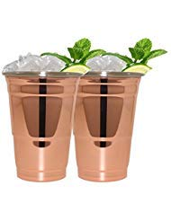 (Silve One Intl. MG-72-2PK 2 PK RED COPPER FINISH CUP IN BOX)