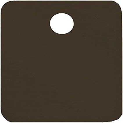 "CH Hanson Black Blank Tag, Aluminum, Square, 2"" Height, 5 PK - 43030"
