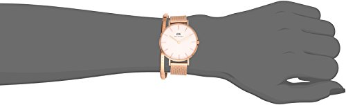 Daniel Wellington Gift Set, Classic Petite Melrose 32mm Watch with Rose Gold Classic Cuff, Color:Rose Gold-Toned (Model: DW00500003) by Daniel Wellington (Image #2)