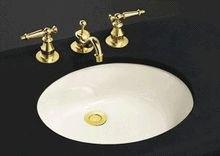 KOHLER K-2210-S1 Caxton Undercounter Bathroom Sink Sink 17-Inch-by-14-Inch, Biscuit Satin (Caxton Kohler Biscuit)
