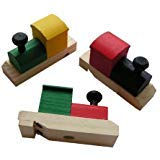 (Wooden Painted Train-Shaped Whistles (2-Pack of 12))
