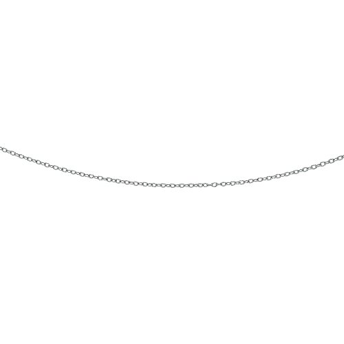 (Luxurman 14K White Solid Gold 2.5mm Diamond Cut Oval Textured Link Cable Chain 24