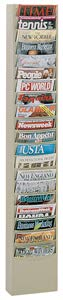 Durham 400-54 Putty Cold Rolled Steel 20 Contour Pocket Vertical Literature Rack, 9-3/4