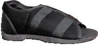 Softie Shoe Mens Black Large Size 10.5-12 Tissue-friendly Upper Material Conforms to Bony Abnormalities and Is Breathable