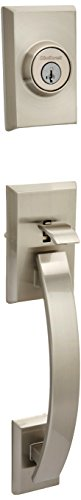 (Kwikset 800TVH LIP 15 SMT RCAL 98001-370 Tavares Single Cylinder Exterior Only Handle Set Featuring Smart Key, Satin Nickel)