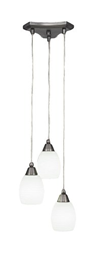 Toltec Lighting 28-BN-615 Europa 3 Light Multi Mini Pendant with 5