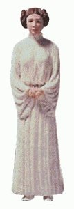 Princess Leia Star Wars 2nd in Series 1998 Hallmark Keepsake Ornament QXI4026 -