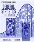 General Statistics, Student Solutions Manual, Chase, Warren and Bown, Fred, 0471172766