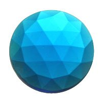 Stained Glass Jewels – 20mm Round Faceted – Turquoise