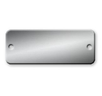 Rectangle Aluminum Tags - 1 x 2 inch - Pk/25