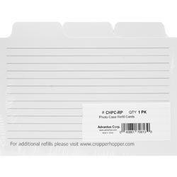- Advantus Crafts Bulk Buy Cropper Hopper Photo Case Refill Cards 12 Pack White 4 inch x 6 inch CHPC-RP (3-Pack)
