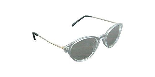 Oval Vintage Eyeglass Frame Transparent Spectacles Glasses Plain Lens Optical - Spectacles Police Frames