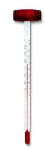 (5.25 Inch Wine Thermometer with Wood Handle Fahrenheit and Celsius)