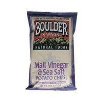 Boulder Canyon Malt Vinegar Potato Chips 5 Oz (Pack of 12)