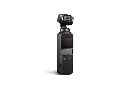 """DJI Osmo Pocket - Handheld 3-Axis Gimbal Stabilizer with integrated Camera 12 MP 1/2.3"""" CMOS 4K Video, Attachable to Smartphone, Android, iPhone, Black"""