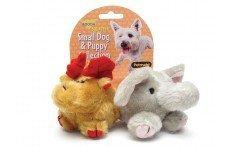 Booda 0353595 Moose & Elephant Squatter Small Dog Toy 2 -