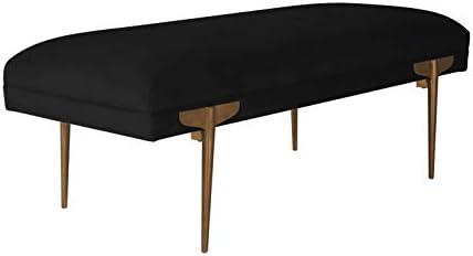 TOV Furniture Brno Glamorous Velvet Upholstered Accent Bench