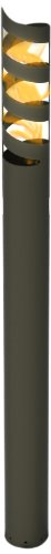 Decorpro 10309 Volution Outdoor Firepot Torch, Gunmetal Grey ()