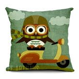 Cheap  Bird Minerva Publish Rest Lawsuit - Cartoon Owl Print Pillow Home Office..