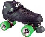 Skate Out Loud Vertigo F1 Falcon Juke Alloy Quad Speed Roller Skates size : 5.5 Wheel color : green/93A