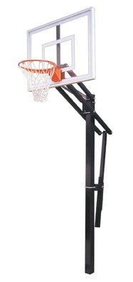 最初チームSlam II steel-acrylic in ground調整可能バスケットボールsystem44、スカーレット B01HC0CKA8