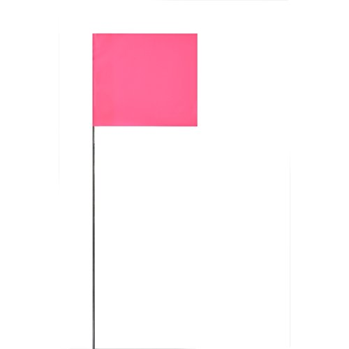 Cheap Swanson FPG30100 2-Inch by 3-Inch Marking Flags with 30-Inch Wire Staffs, Pink 100 Pack