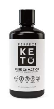 Perfect Keto C8 Mct Oil: Pure Caprylic Acid Liquid Coconut Oil Fat Source. Ketones Best As Ketogenic Diet Supplement. Low Carb Ketone Octane For Brain