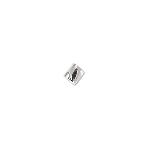 Crimp Tube Seamless Twisted 2x2mm Sterling Silver (10-Pcs) ()