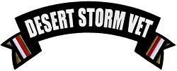 Desert Storm Vet Rocker Back Patch
