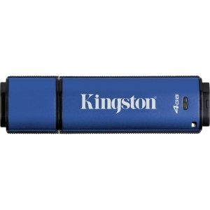 Kingston DataTraveler Vault Privacy 3.0 Management-Ready - 4 GB - Encryption Support, Password Protection, Water Proof - DTVP30M-R/4GB