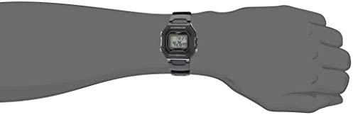 Casio Men's Classic Stainless Steel Quartz Watch with Resin Strap, Black, 21.1 (Model: W-218H-1AVCF) WeeklyReviewer