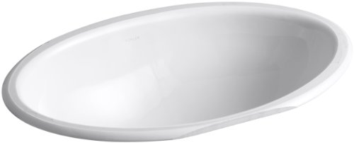 Vintage Undermount Bathroom Sink - Kohler 2240-0 Ceramic undermount Oval Bathroom Sink, 27 x 20.5 x 10.75 inches, White
