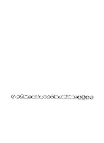 Ti Sento Milano femme  Argent 925/1000  Plaqué rhodium Argent #Silver Coussin   Blanc Perlmutt Zirkonia FASHIONNECKLACEBRACELETANKLET