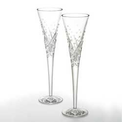 Waterford Crystal 10th Edition 12 Days of Christmas Champagne Flute, Ten Lords-a-Leaping