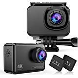 DBPOWER EX7000 Sports Action Camera 4K, 14MP Touchscreen Waterproof Camera 170 Degree Wide Angle 2.4G Remote Control and Accessories Kit