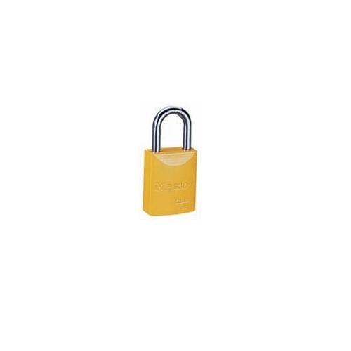 Ideal 44-923, Aluminum Safety Padlock-Yellow, 10 pcs