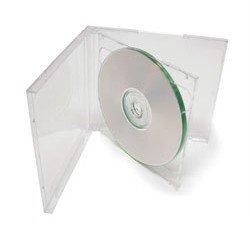 50 STANDARD Clear Double CD Jewel Case