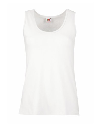 Fruit of the Loom - Camiseta sin mangas - para mujer Blanco - blanco