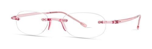 Gels Lightweight Rimless Fashion Readers - The Original Reading Glasses for Men & Women - Blush (+2.50 Magnification Power) - Scojo Reading Glasses Gels