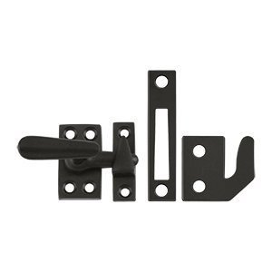 - Deltana CF066 Small 4 Piece Solid Brass Window Casement Fastener, Oil Rubbed Bronze
