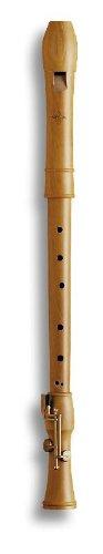 Mollenhauer 2446 Canta Tenor-Blockflöte Barock mit Doppelloch und Doppelklappe Birnbaum hell Natur-Holz - Tenorflöte in C - Tenorblockflöte inkl. Baumwolltasche, Wollwischer, Fettdöschen, Grifftabelle und Pflegeanleitung