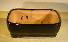 Bonsai Boy's Black Ceramic Bonsai Pot - Rectangle 8 0 x 6 25 x 2 5