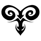 Aries Temporary Tattoo - [5x5 cm] (tatuajes temporales): Amazon.es ...