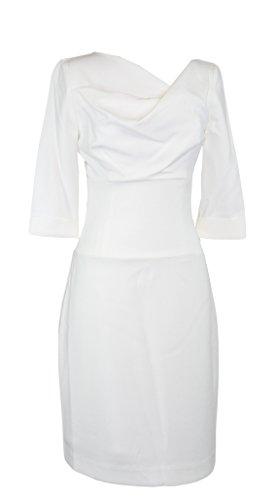 Mini Dress O Sleeve White Halo Black Jackie 3 Porcelain 4 C04SwqY