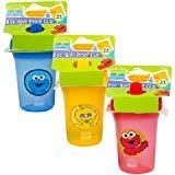 Sesame Street Sesame Beginnings 8oz. Spill Proof Cups - Big Bird, Cookie Monster and Elmo (3-Pack), Multicolored ()