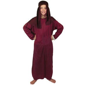 Nativity Gown - Fun Express Childs Large Maroon Nativity Gown