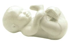 Royal Copenhagen Figurine, Baby Babbling White