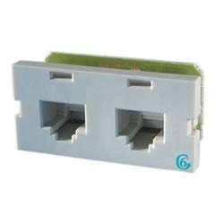 (Ortronics Clarity Series II 2-Port Cat6 Jack Module, Fog White OR-S22600)